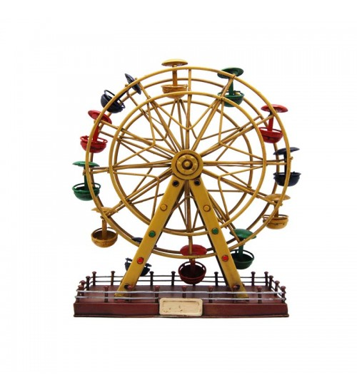 Retro Classic Handmade Iron 'Ferris Wheel' Model Craft Figure