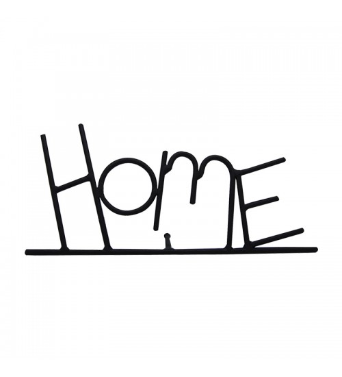"Classic Handmade Iron Inspiration ""Home"" Décorative Display Sign"