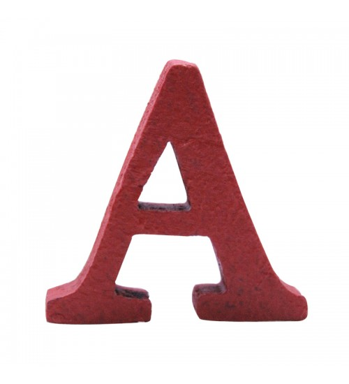 Home Décor - Letter A (Red)