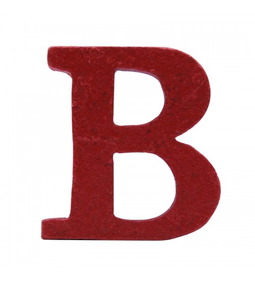 Home Décor - Letter B (Red)
