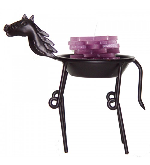 Iron Zodiac Candle Holder - Horse