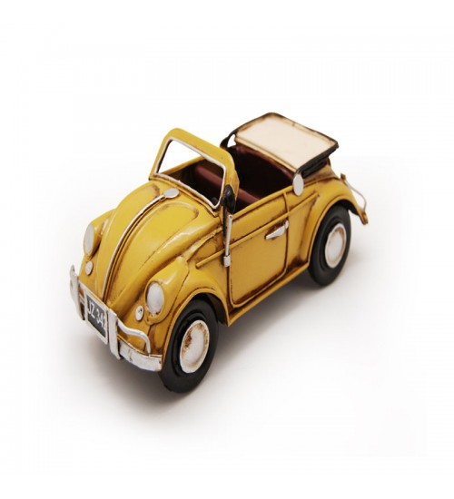 1952 YELLOW VOLKSWAGEN BEETLE CONVERTIBLE MODEL